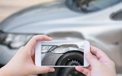 Fotografías en un accidente de tráfico.
