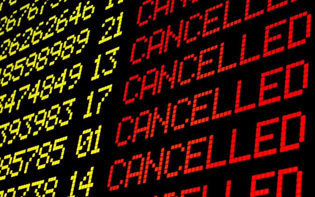 Cancelación de vuelos por el Coronavirus.
