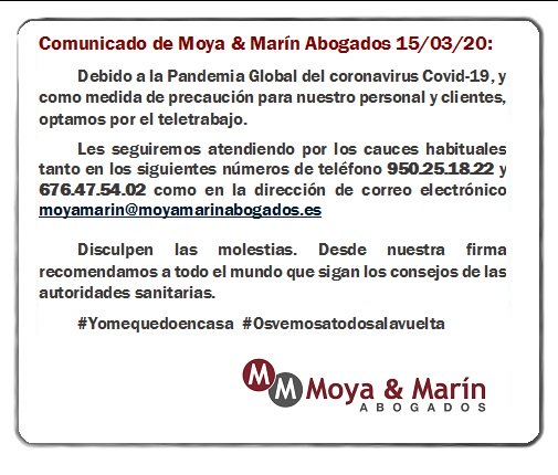 Comunicado Moya Marín Covid-19